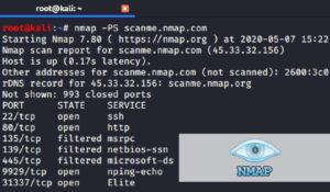 Nmap Signal herramienta de seguridad