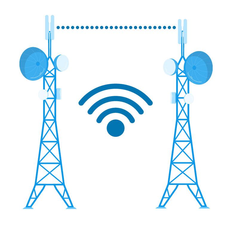 Internet empreses ràdio enllaç